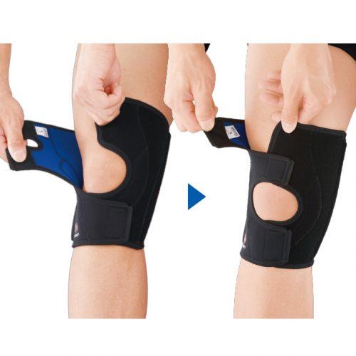 可完美貼合膝蓋,還能自由調節壓迫力