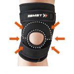 精確壓迫於膝蓋骨周圍的膝蓋骨墊和跳躍墊