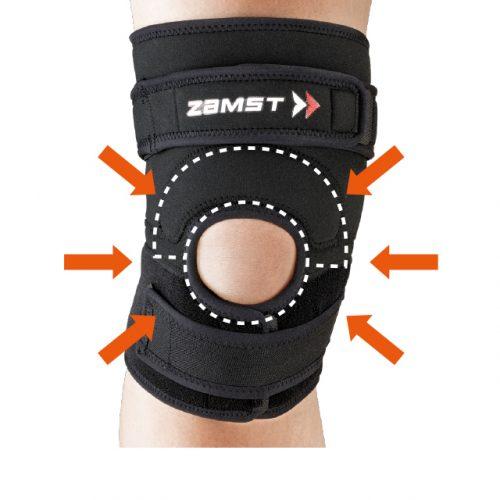 壓迫膝蓋骨周圍的膝蓋骨墊和跳躍墊