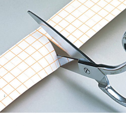 Paper liner with a grid pattern makes easy to cut