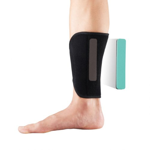 Shin pad reduces the strain on the shin