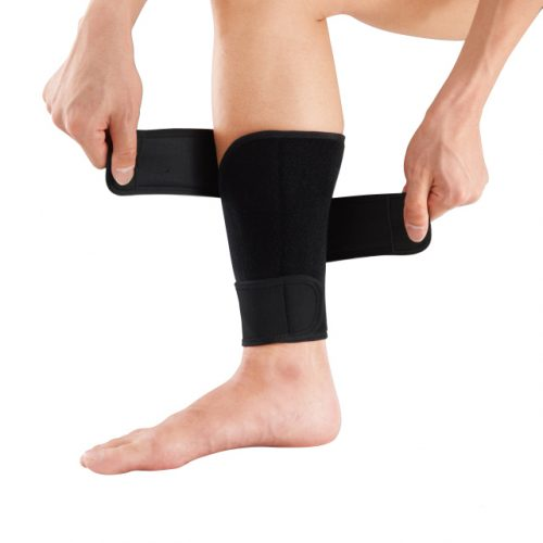 Triple strap fits the shape of the shin