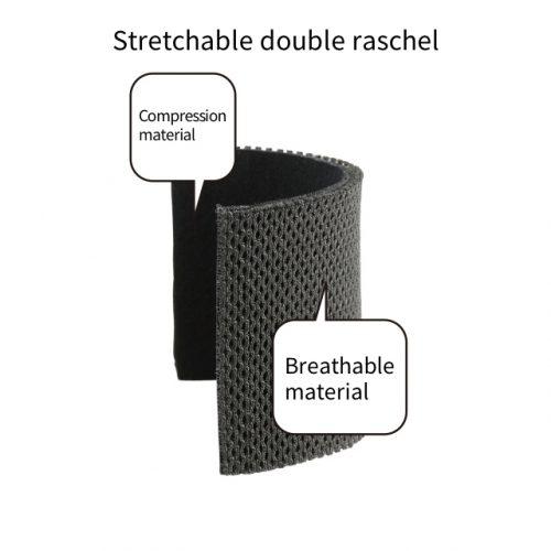 舒適貼身的高彈力網狀透氣材料